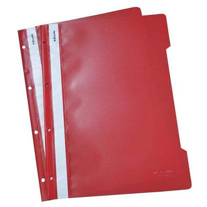 Resim Esselte 4199 Plastik Telli Dosya Kırmızı